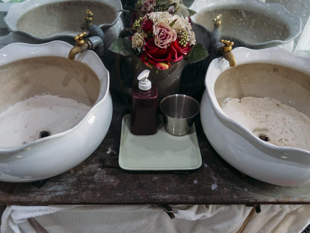 Bồn rửa mặt ở HomeFarm homestay