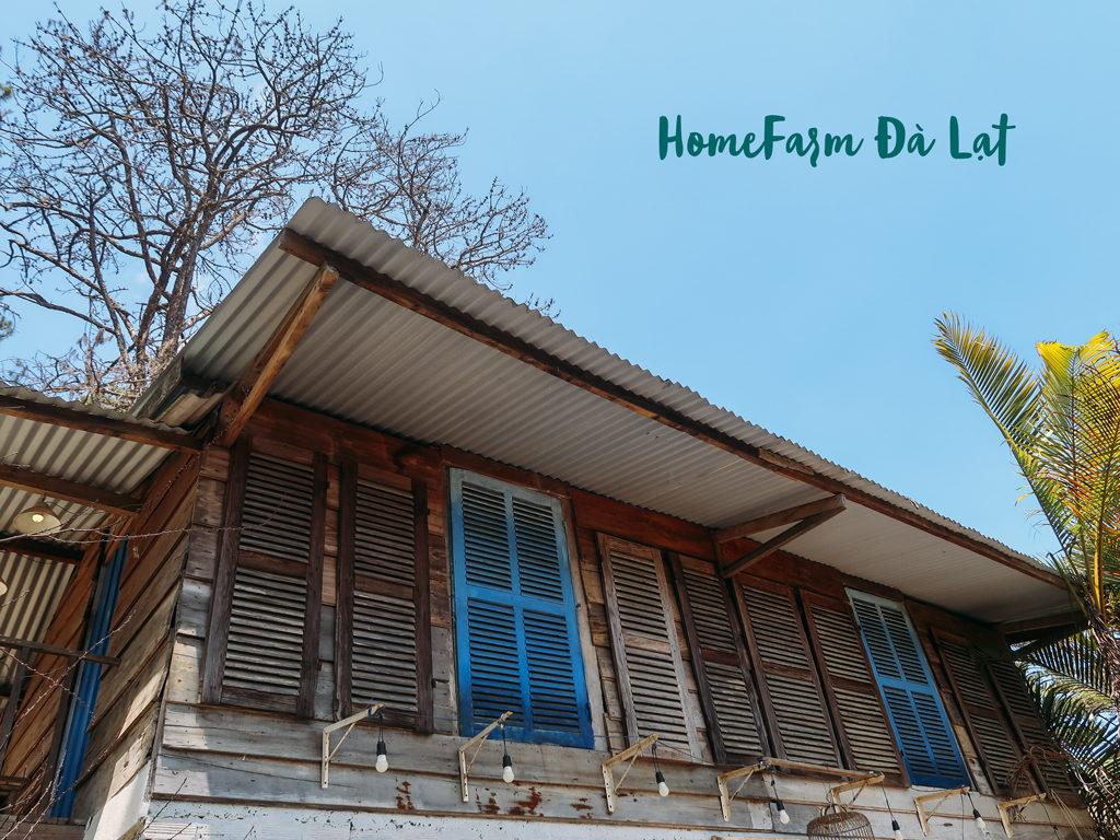 Căn nhà gỗ ở HomeFarm Đà Lạt