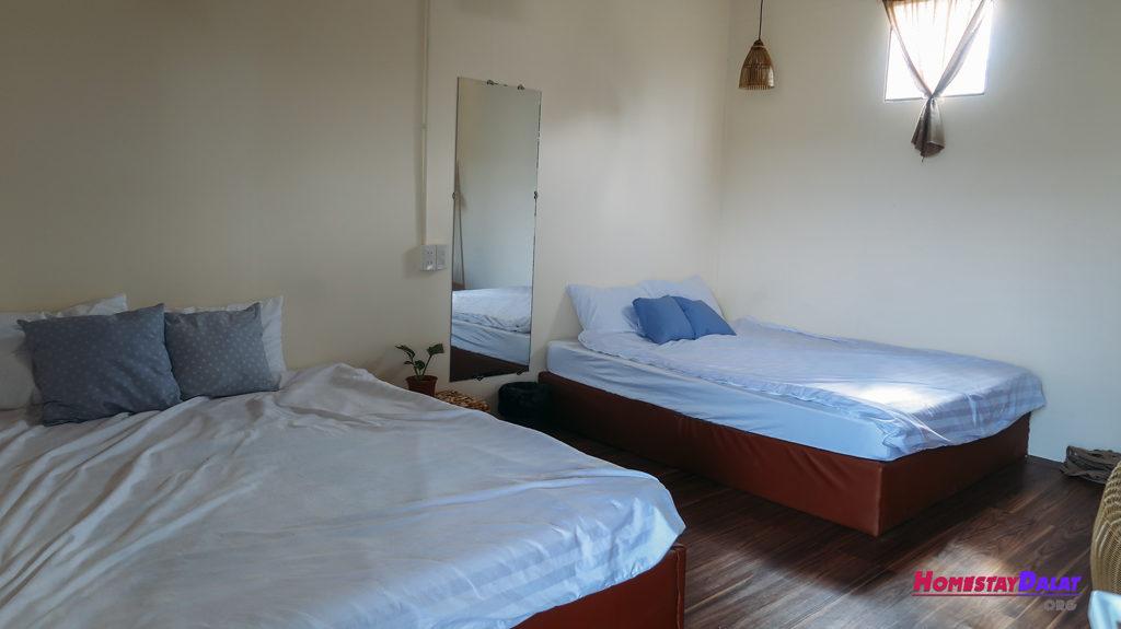 Giường đôi ở homestay Crush Và Tôi Đà Lạt