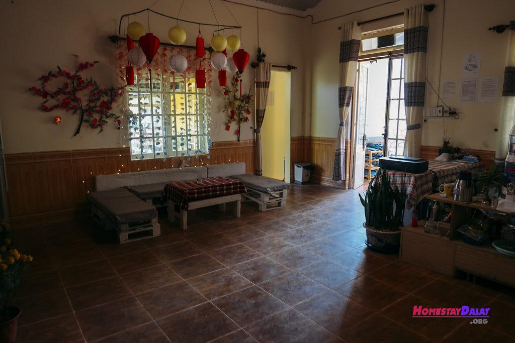 Phòng sinh hoạt Together homestay Đà Lạt