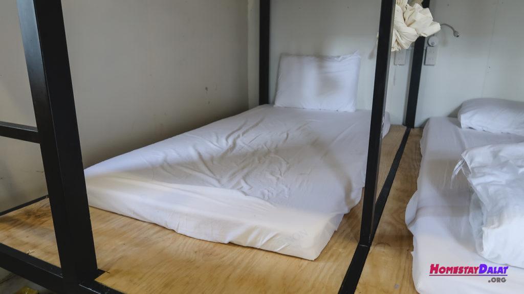Giường dorm của Teepee homestay Đà Lạt