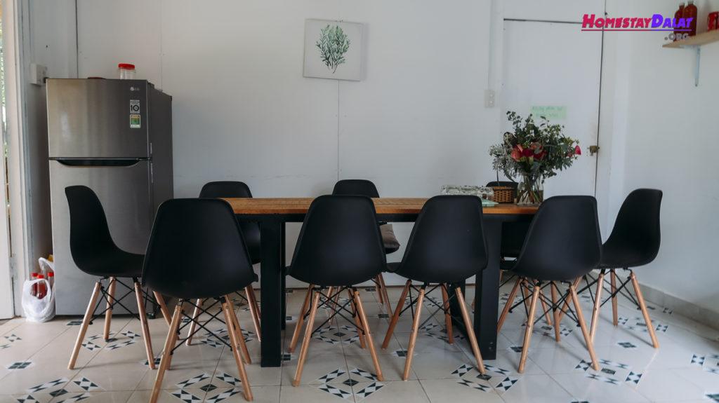 Phòng ăn homestay Teepee