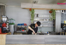 Quầy pha chế cafe 2P
