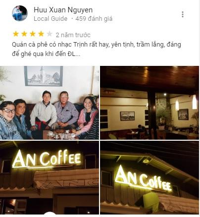 Đánh giá khách du lịch trên MXH về An Coffee đường Hoàng Diệu