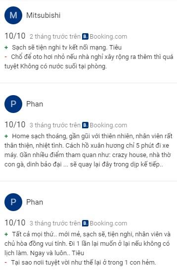 Đánh giá của khách du lịch về Mr Dalat House trên Mạng Xã Hội